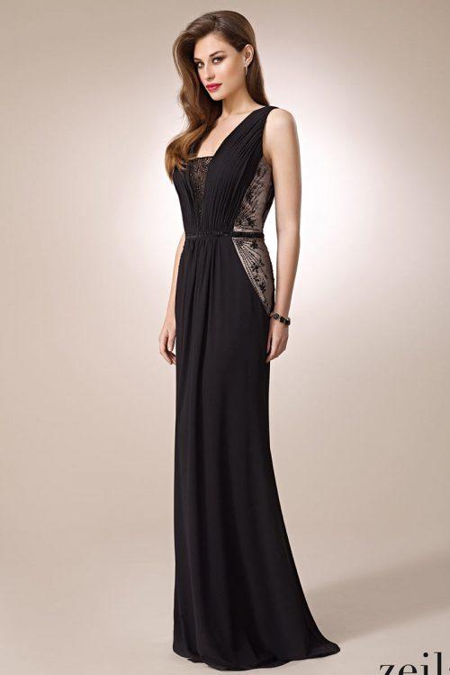 Vestido de Fiesta Negro chifon zeila 3019268