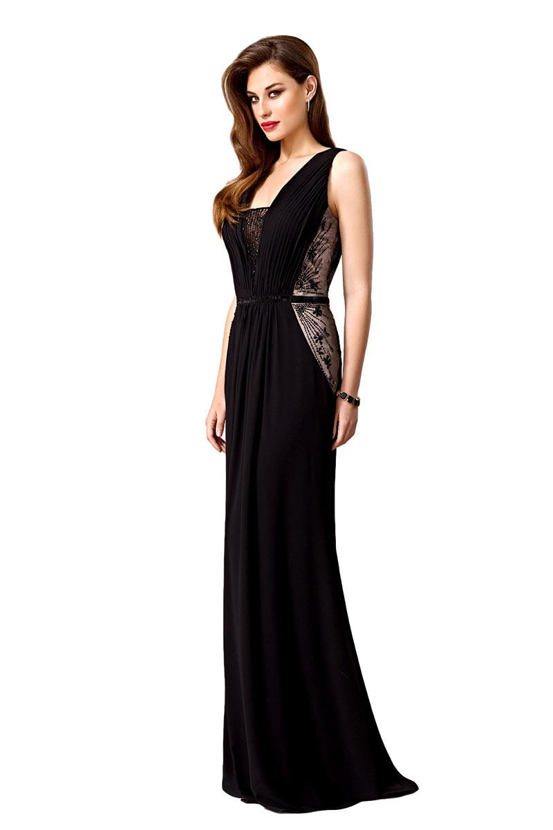 Vestido de noche largo negro zeila modelo 3019268 c55