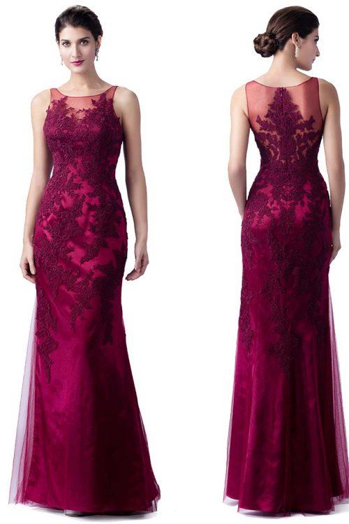 vestido de tul y encaje corte sirena 1