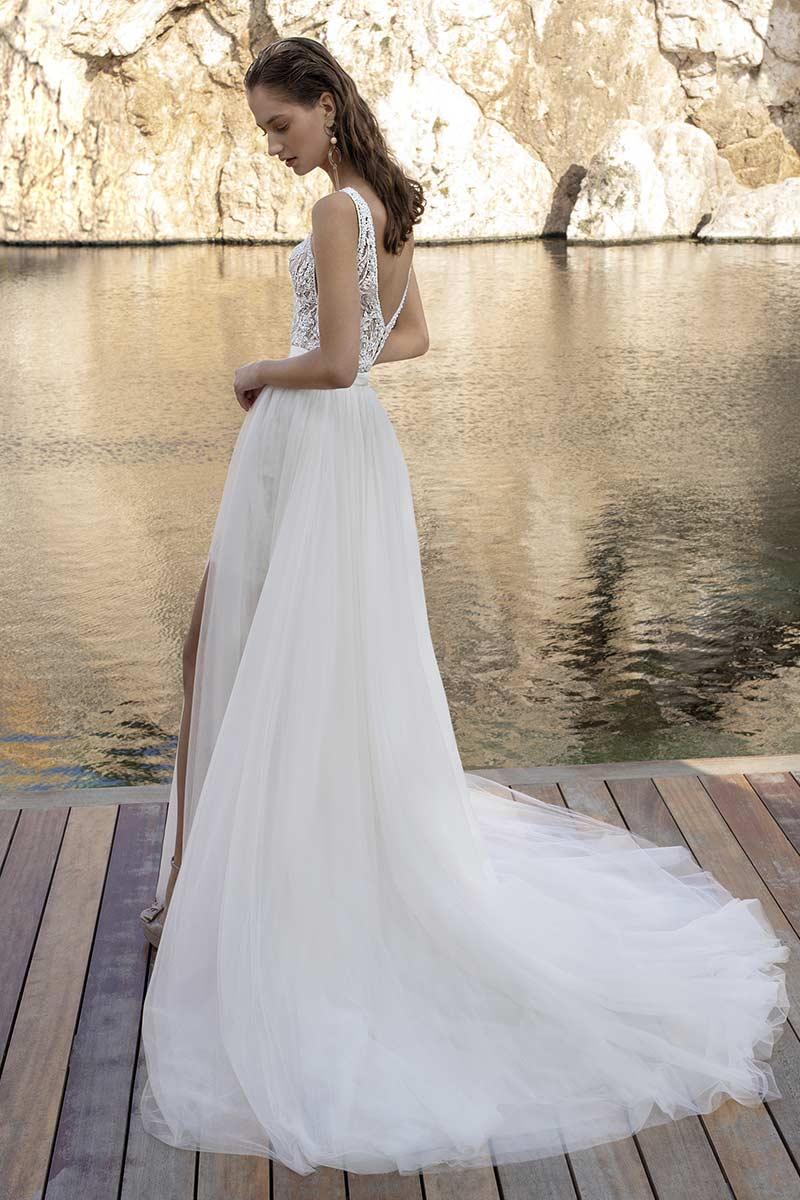 traje novia boda playa b