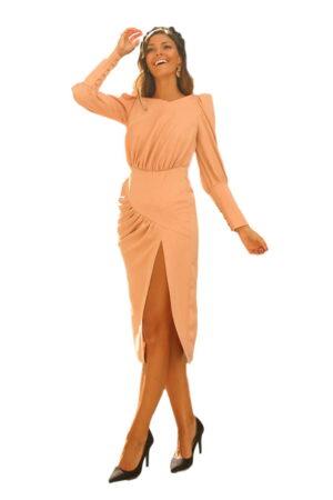 Vestido Fiesta Blanca Martin vestido nude alma 1