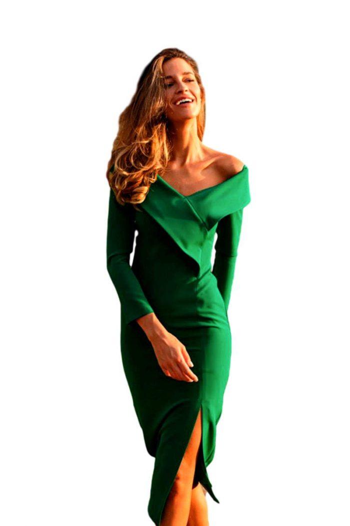 Vestido Fiesta Blanca Martin vestido salma verde 1