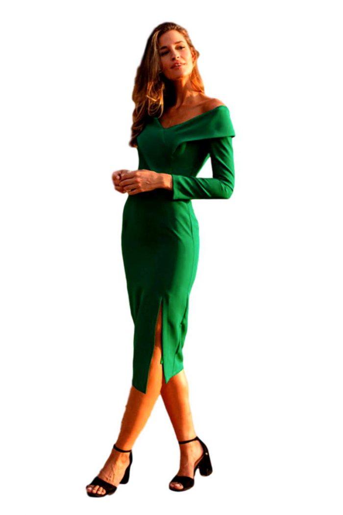 Vestido Fiesta Blanca Martin vestido salma verde 2