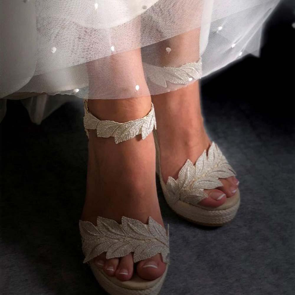 Alpargatas esparteñas novia modelo 191 b