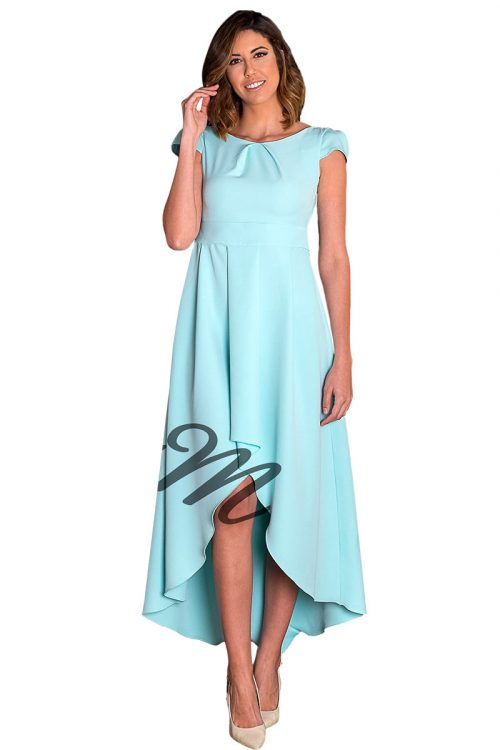 Vestido asimetrico modelo 1543 azul