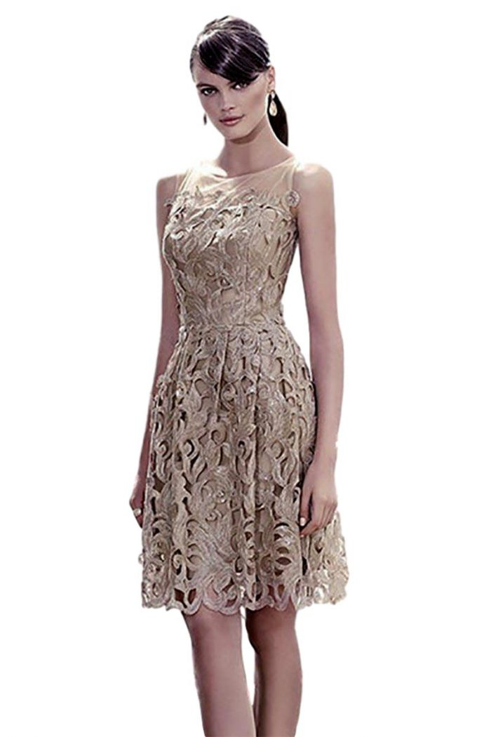 Vestido coctel corto fiesta carla ruiz modelo 91313